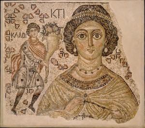 Fragmento de mosaico bizantino siglo IV